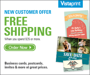vistaprint coupon free shipping